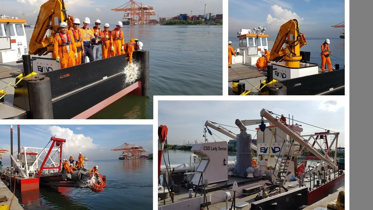 IHC Beaver 50 Cutter Suction Dredge and DMC 1200 Workboat Arrives